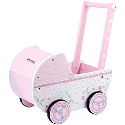 Woomax-carrito muñeca madera +18m - 05646475