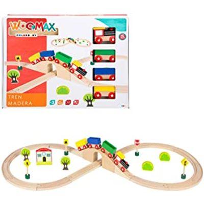 Woomax-tren madera 30 pzas +24m - 05643629