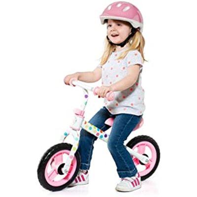 Bici sin pedales rosa (sin casco) - 26520212