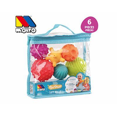 Bolsa bolas sensoriales 6 pzas - 8410963195200