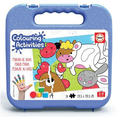20 animales de la granja colouring activities - 8412668182097