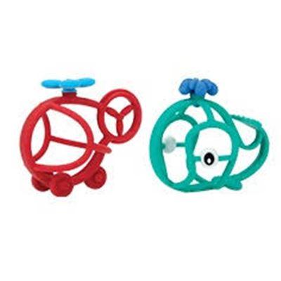 Mordedor pelota silicona figuras 3m+ - 0048526068418