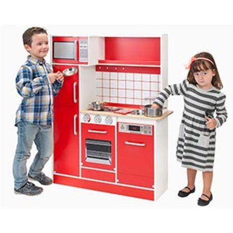 Cocina de madera lacada grande - 35899711