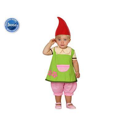 Disfraz duende niña, bebé t. 0-6 - 01823961