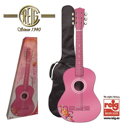 Guitarra madera 75cm. - color rosa - 8411865070664