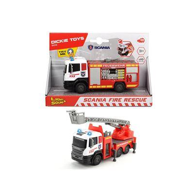 Camión bomberos scania con luz y sonido 17 cm 2 su - 4006333058622