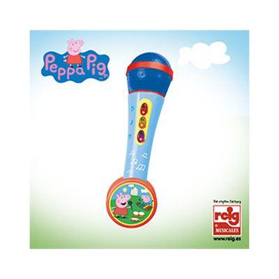 Micro de mano c/amp y ritmo peppa pig - 8411865023363