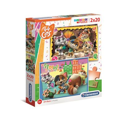 Puzzles 2x20 piezas 44 gatos - 8005125247585