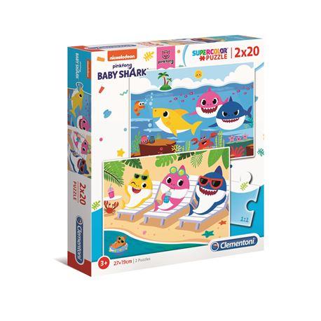 Puzzle 2x20 baby shark - 8005125247776