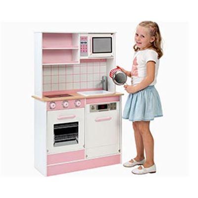 Cocina de madera lacada mediana - 35899712