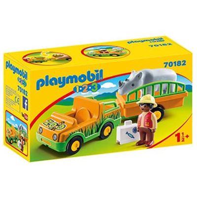 1.2.3 vehículo del zoo con rinoceronte - 30070182