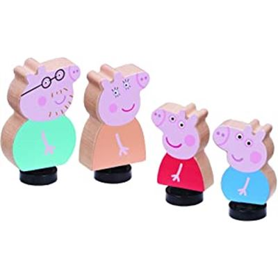 Pack 4 figuras madera familia pig - 02507207