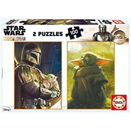 Puzzle 2x100 baby yoda - the mandalorian - 04018872