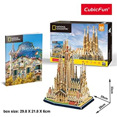 Puzzle 3d la sagrada familia (national geographic) - 15480990
