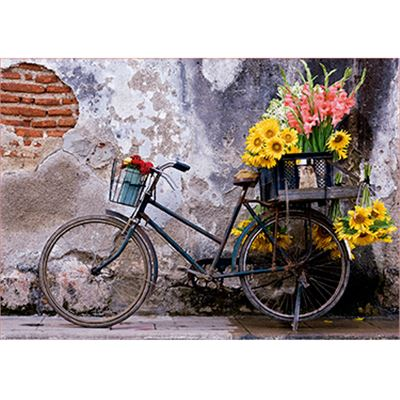 500 bicicleta con flores - 04017988