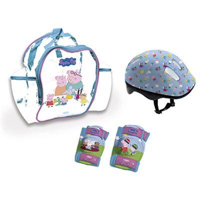Mochila+casco+protecciones peppa pig - 50500119