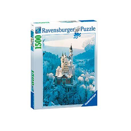 Neuschwanstein en invierno 1500 pz - 26916219