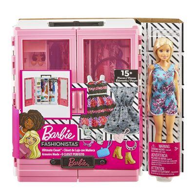 Super-armario de barbie con muñeca - 0887961716450